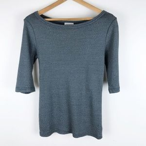 Michael stars x anthropologie | XS/S gray blue tee